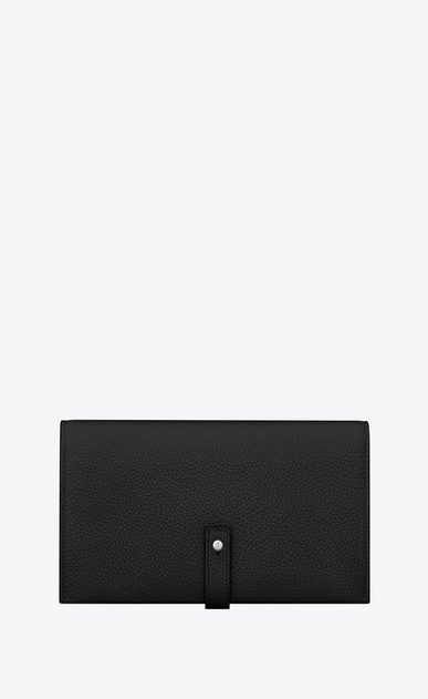 SAINT LAURENT Sac de jour SLG Woman SAC DE JOUR SOUPLE wallet in black grained leather a_V4