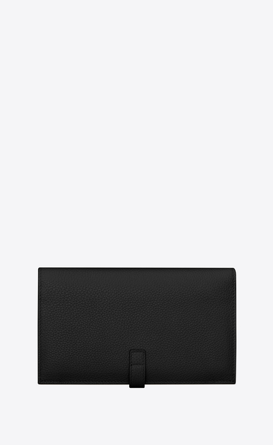 SAINT LAURENT Sac de jour SLG Woman sac de jour souple thin wallet in grained leather b_V4