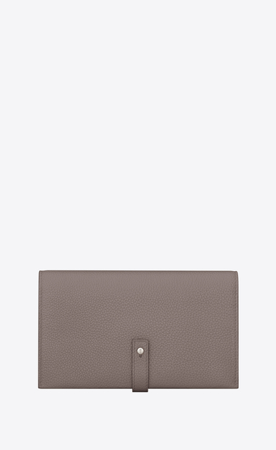 SAINT LAURENT Sac de jour SLG Woman SAC DE JOUR SOUPLE thin wallet in fog grained leather a_V4