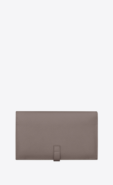 SAINT LAURENT Sac de jour SLG Woman SAC DE JOUR SOUPLE thin wallet in fog grained leather b_V4