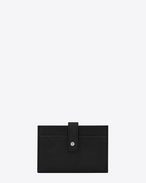 SAINT LAURENT Sac de jour SLG D SAC DE JOUR SOUPLE credit card case in black grained leather f