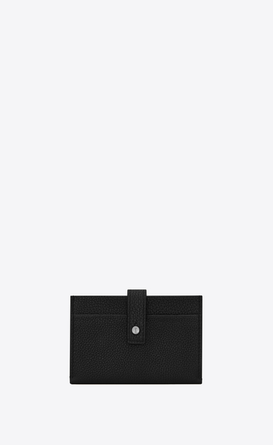 SAINT LAURENT Sac de jour SLG Woman SAC DE JOUR SOUPLE credit card case in black grained leather a_V4