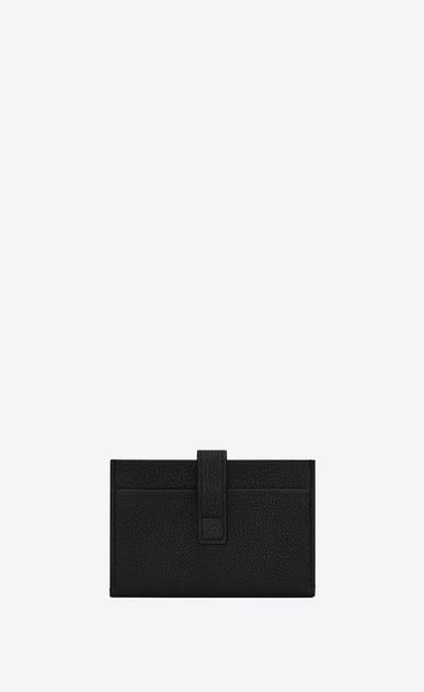 SAINT LAURENT Sac de jour SLG Femme porte-cartes sac de jour souple en cuir texturé noir b_V4
