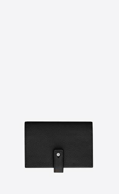 SAINT LAURENT Sac de jour SLG D SAC DE JOUR SOUPLE compact wallet in black grained leather a_V4