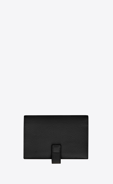 SAINT LAURENT Sac de jour SLG D SAC DE JOUR SOUPLE compact wallet in black grained leather b_V4