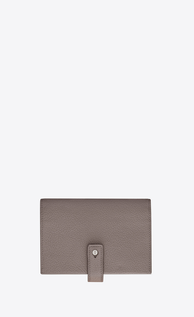 SAINT LAURENT Sac de jour SLG D SAC DE JOUR SOUPLE compact wallet in fog gray grained leather a_V4