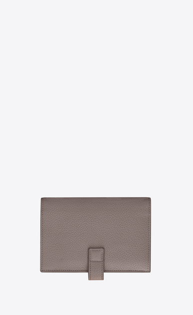 SAINT LAURENT Sac de jour SLG D SAC DE JOUR SOUPLE compact wallet in fog gray grained leather b_V4