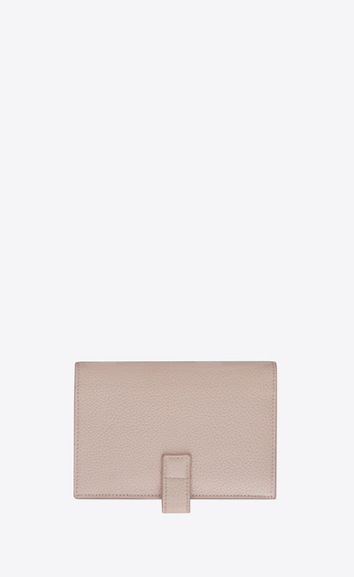 SAINT LAURENT Sac de jour SLG D SAC DE JOUR SOUPLE thin compact wallet in pink grained leather b_V4