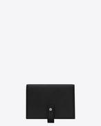 SAINT LAURENT Sac de jour SLG D SAC DE JOUR SOUPLE business credit card case in black grained leather f