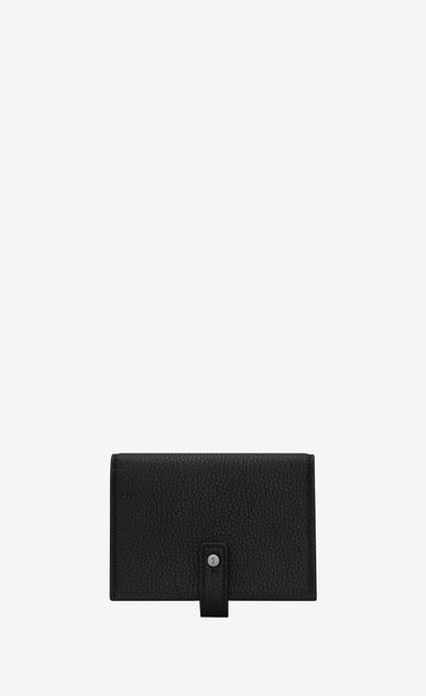 サック・ド・ジュール ソフト ビジネスカードホルダー(ブラック/グレインレザー)