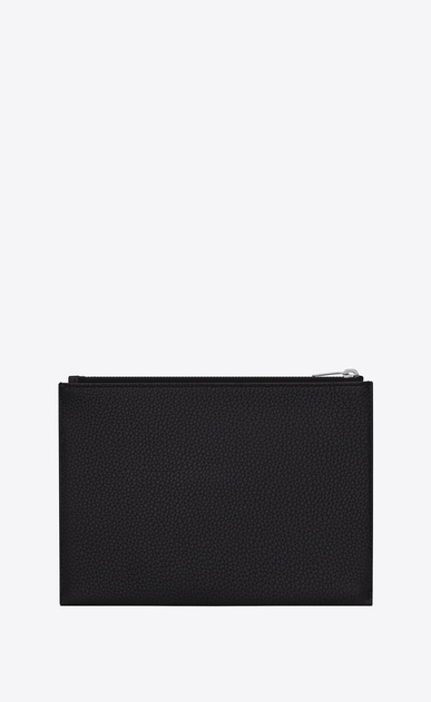 SAINT LAURENT Sac de jour SLG Woman sac de jour souple tablet case in black grained leather b_V4