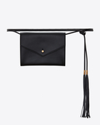 SAINT LAURENT Belt Bags D ENVELOPE belt bag in black leather f