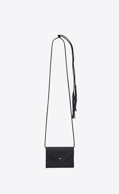 SAINT LAURENT Belt Bags Woman ENVELOPE belt bag in black leather b_V4
