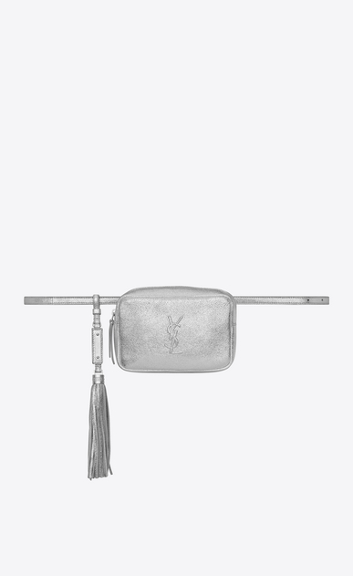 SAINT LAURENT Belt Bags Woman LOU belt bag in platinum leather V4