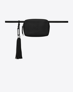 SAINT LAURENT Belt Bags D LOU belt bag in black leather f