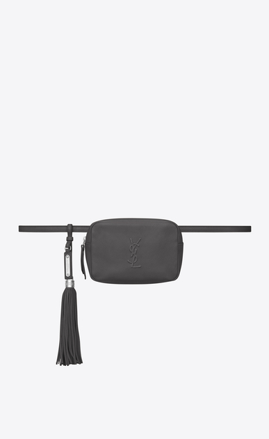 SAINT LAURENT Belt Bags D LOU belt bag in asphalt gray leather a_V4