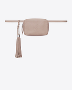 SAINT LAURENT Belt Bags D LOU belt bag in pink leather f