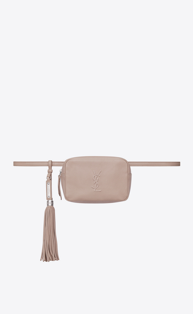 SAINT LAURENT Belt Bags D LOU belt bag in pink leather a_V4