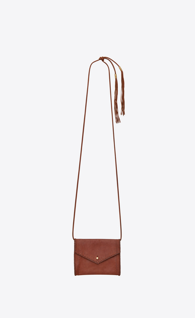 SAINT LAURENT Belt Bags D ENVELOPE belt bag in cognac leather b_V4