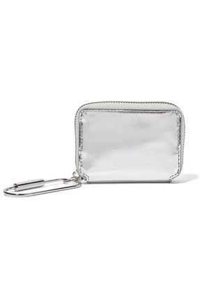 KARA Mirrored-leather wallet