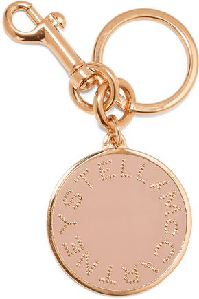 STELLA McCARTNEY Gold-plated enamel keychain
