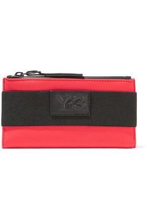 Y-3 + adidas Originals appliquéd twill-trimmed scuba wallet