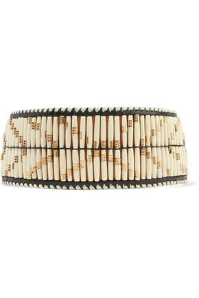 BALMAIN Beaded leather belt