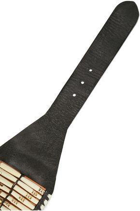 BALMAIN Beaded leather belt