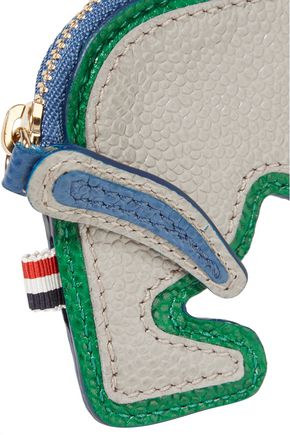 THOM BROWNE Hector textured-leather key wallet
