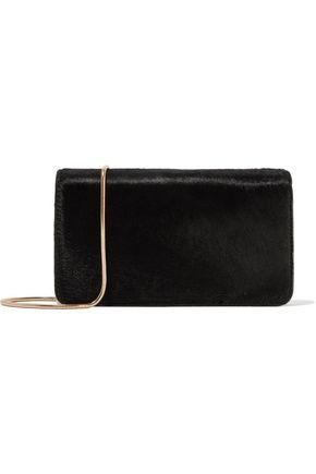 DIANE VON FURSTENBERG Calf hair-paneled leather wallet