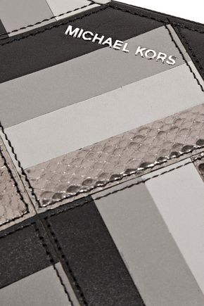MICHAEL MICHAEL KORS Daniela paneled leather pouch