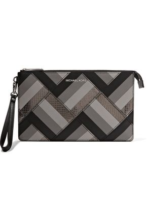 MICHAEL MICHAEL KORS Daniela paneled leather pouch