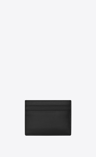 SAINT LAURENT SLP animation Man SAINT LAURENT ECLAIR studded card case in black leather b_V4