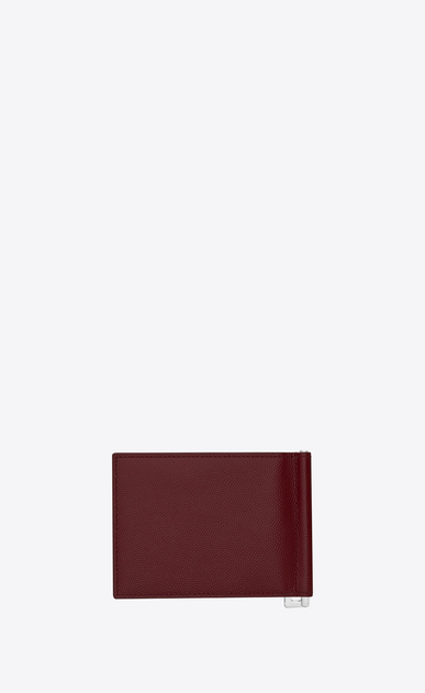 SAINT LAURENT Saint Laurent Paris SLG Man SAINT LAURENT PARIS wallet in dark red textured leather b_V4