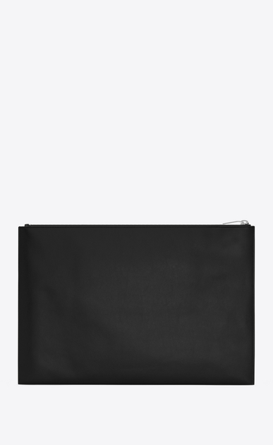 SAINT LAURENT SLP animation Man WAITING FOR SUNSET document holder in black leather b_V4