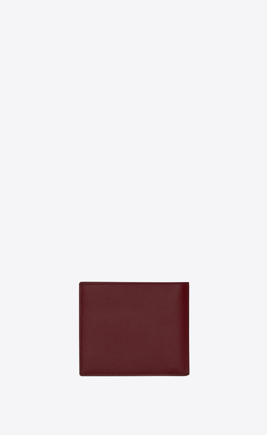 SAINT LAURENT Saint Laurent Paris SLG U EAST/WEST SAINT LAURENT PARIS wallet in dark red textured leather b_V4