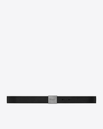 SAINT LAURENT Classic Belts U BELLECHASSE SAINT LAURENT buckle belt in black leather f