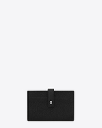 SAINT LAURENT Sac de jour SLG U SAC DE JOUR card case in black grained leather f