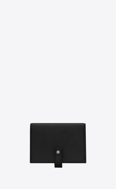 SAINT LAURENT Sac de jour SLG U SAC DE JOUR business card case in black grained leather a_V4