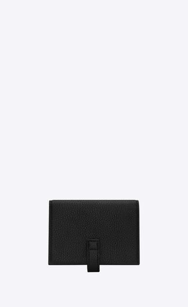 SAINT LAURENT Sac de jour SLG U SAC DE JOUR business card case in black grained leather b_V4