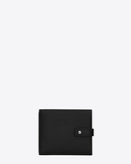 SAINT LAURENT Sac de jour SLG U EAST/WEST SAC DE JOUR wallet in black grained leather f