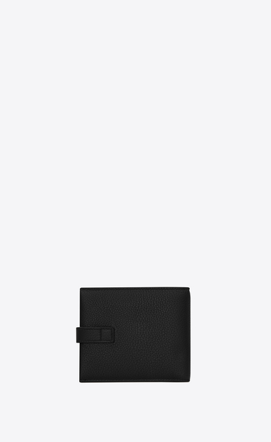 SAINT LAURENT Sac de jour SLG Man EAST/WEST SAC DE JOUR wallet and coin holder in black grained leather b_V4