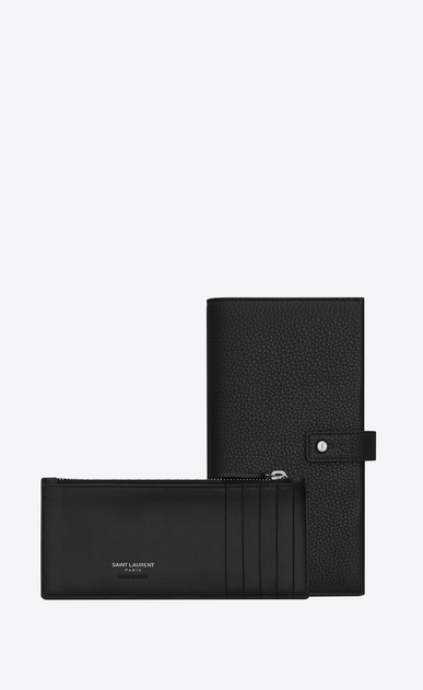 SAINT LAURENT Sac de jour SLG Man SAC DE JOUR long wallet in black grained leather b_V4