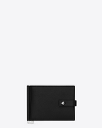 SAINT LAURENT Sac de jour SLG U SAC DE JOUR wallet with money clip in black grained leather f