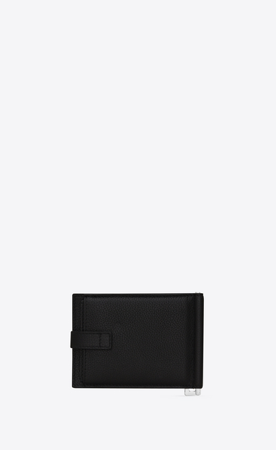 SAINT LAURENT Sac de jour SLG Man SAC DE JOUR wallet with money clip in black grained leather b_V4
