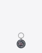 SAINT LAURENT Key Ring U SAINT LAURENT PARIS HEAVEN key ring in black and red metal f
