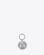SAINT LAURENT Key Ring U SAINT LAURENT PARIS Y key ring in silver-toned metal f