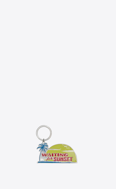 SAINT LAURENT Key Ring Man waiting for sunset key ring in yellow, red and blue metal a_V4