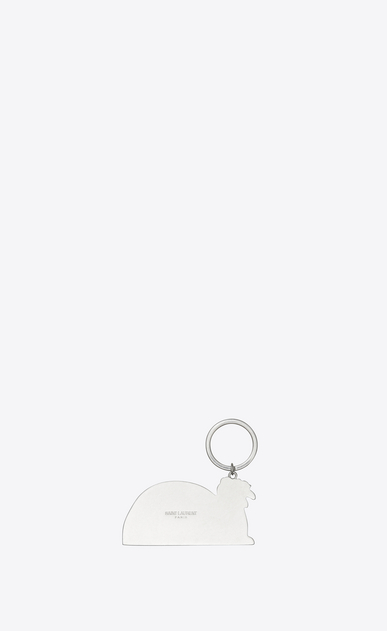 SAINT LAURENT Key Ring Man waiting for sunset key ring in yellow, red and blue metal b_V4