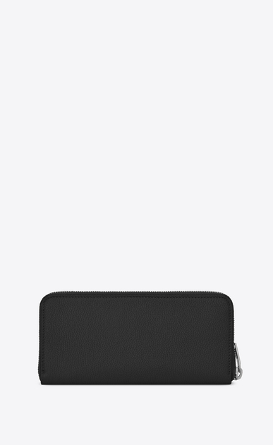 SAINT LAURENT Sac de jour SLG Man Sac de Jour zippered wallet in black grained leather b_V4